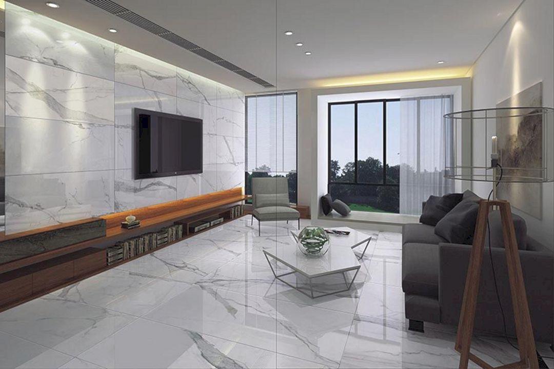 Marble Slab In Living Room