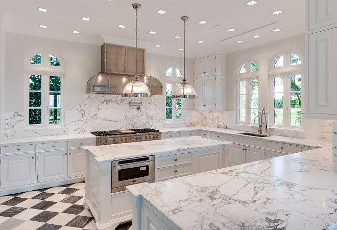 Marble Slab On Kitchen Countertop